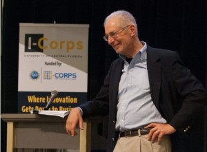 Jerry Engel - a leader in the Lean Startup movement - speaking at the inagural UCF I-Corps kickoff event in Orlando